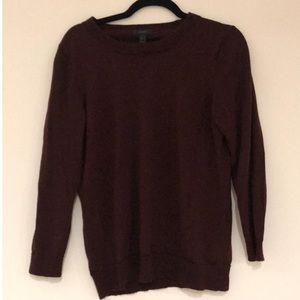 Burgundy J. Crew Pullover Sweater
